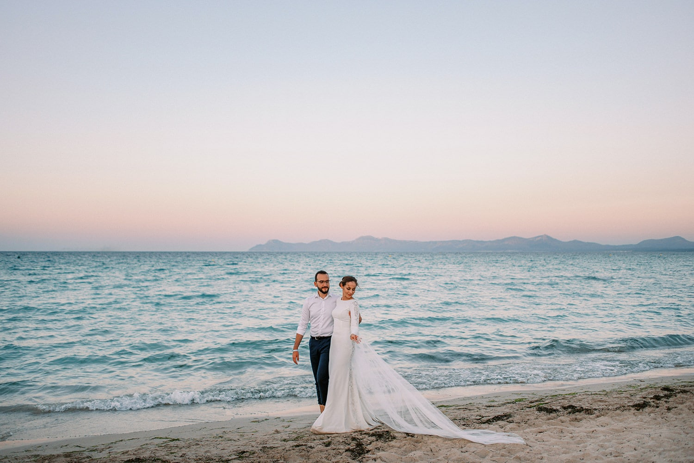 Couple Wedding Photoshoot at Playa de Muro Mallorca
